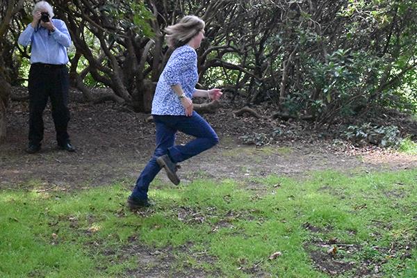 Martine running